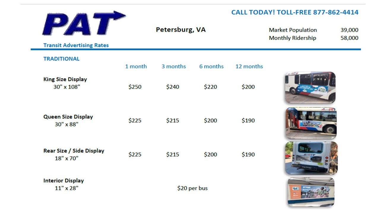 Advertise With PAT Pricing