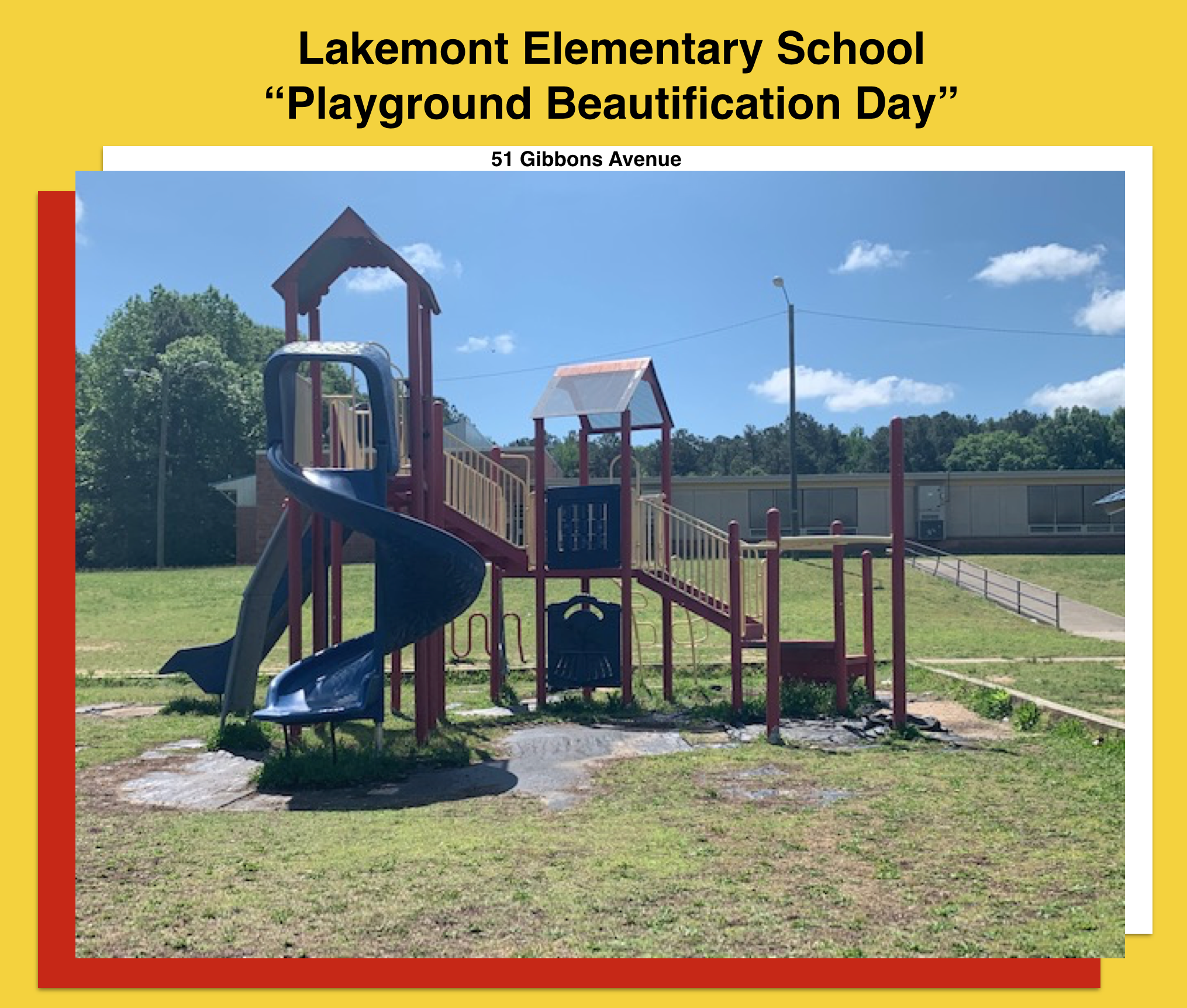 LAKEMONT ELEMENTARY SCHOOL - PLAYGROUND BEAUTIFICATION DAY